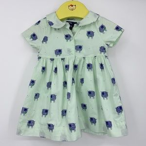 Baby Gap shirt dress sz 6-12 month lined sheep